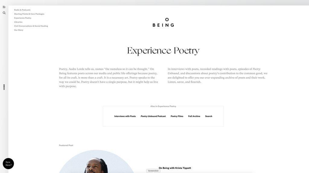 Website OnBeing