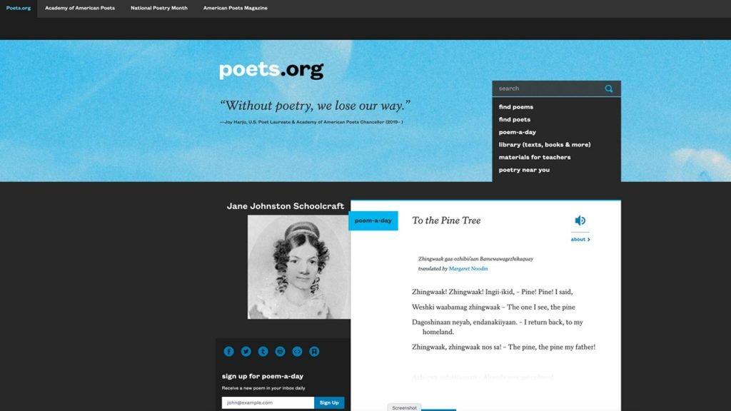 website Poets.org